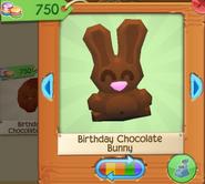 Birthday chocolate bunny 2
