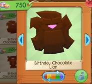 Birthday chocolate lion 2