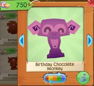 Birthday chocolate monkey 3