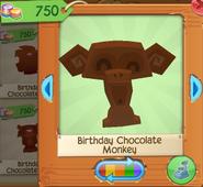Birthday chocolate monkey 2
