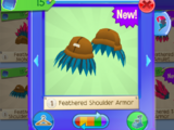 Feathered Shoulder Armor