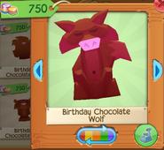 Birthday chocolate wolf 4