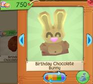 Birthday chocolate bunny 1