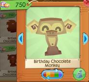 Birthday chocolate monkey 1