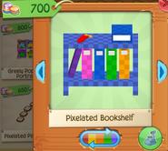 Pixelated bookshelf 5