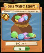 Daily member reward