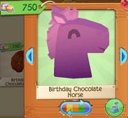 Birthday chocolate horse 3