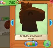 Birthday chocolate horse 2