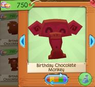 Birthday chocolate monkey 4