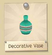 Decorative vase teal