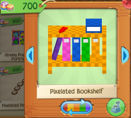 Pixelated bookshelf 2