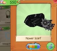 Flower Scarf Black (2)