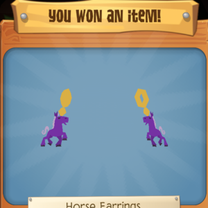 Horse earrings purple.png