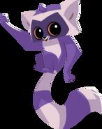 Purple lemur graphic