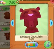Birthday chocolate tiger 4