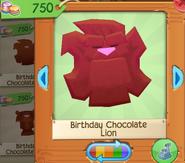 Birthday chocolate lion 4