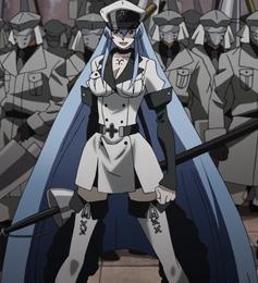 Esdeath full body anime