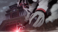 Tyrant appears behind Tatsumi