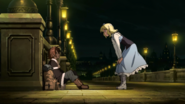Aria welcoming Tatsumi to her house