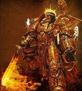 Emperor of mankind flaming sword armor