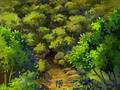 Bosque inmenso desde abajo