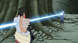 Sasuke stabs Karin and Danzo.png
