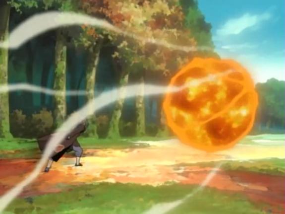 Elemento Fuego: Jutsu Gran Bola de Fuego