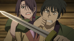 Yu-Ri is captured by a guard.png