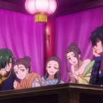 Jae-Ha with Hak and surrounded by ladies.png