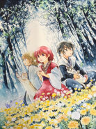 Yona, Hak and Soo-Won in the forest