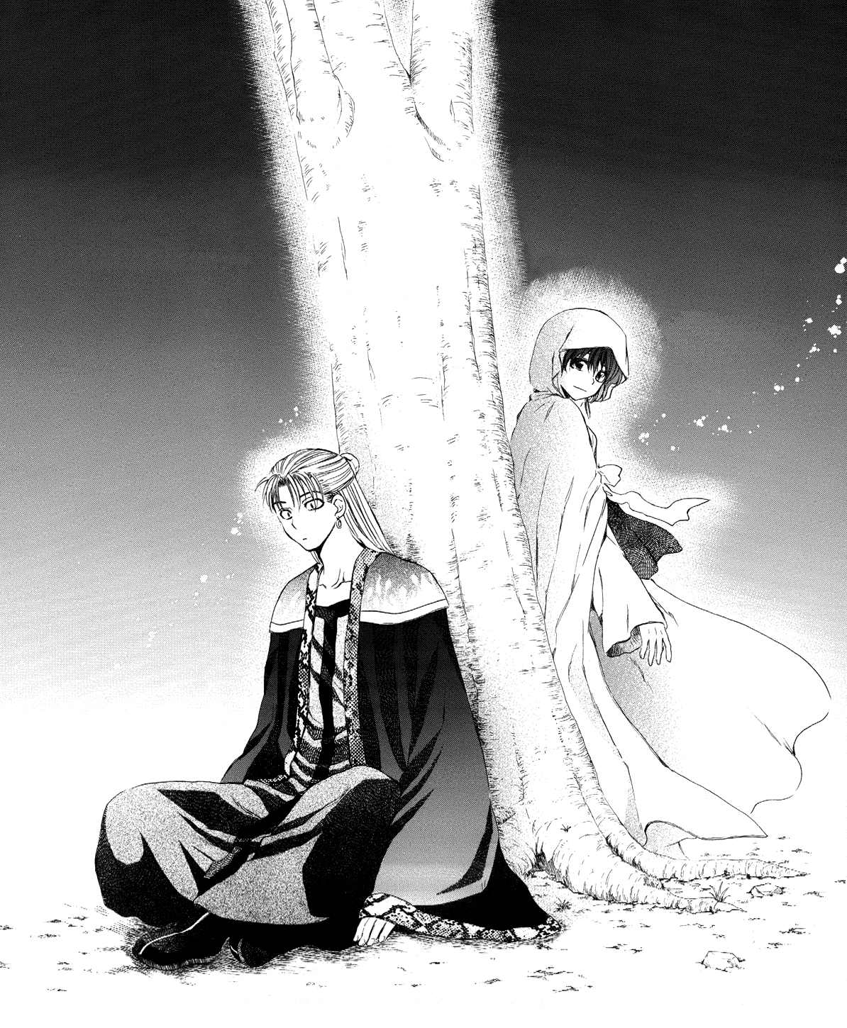 Kan Tae-Jun and Yona talk under the tree.png
