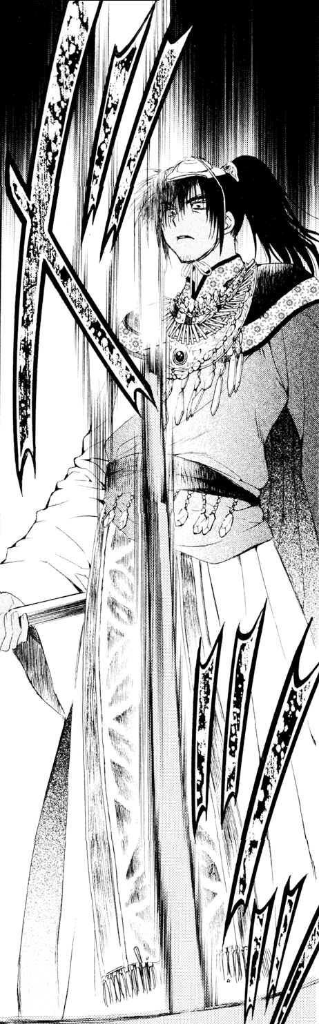 Geun-Tae is almost hit by the sword.png