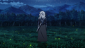 Seiryuu surrounded by a grassland full of fireflies
