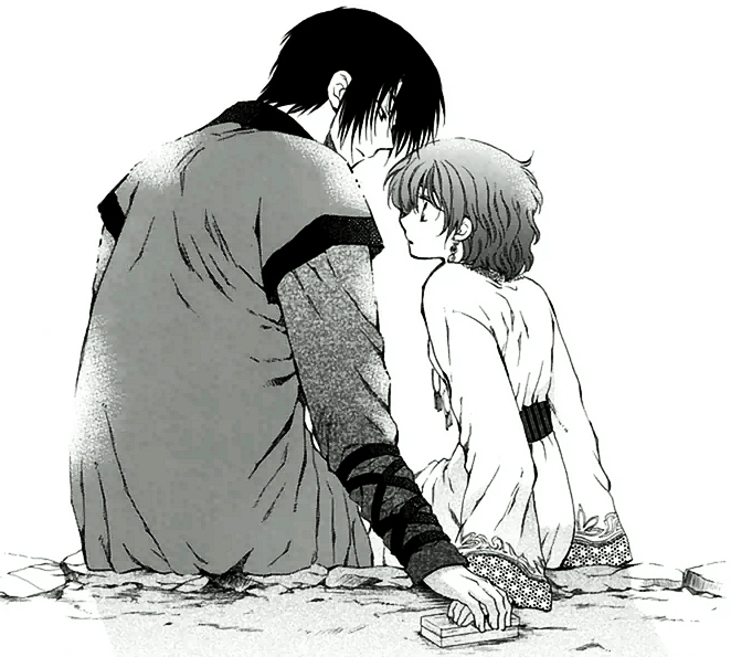 Hak and Yona after the fire festival.png