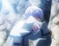 Kija's grandmother cries as Kija leaves