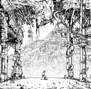 A Lonely Tetsuo in a Large Courtyard