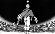 Tetsuo Walking Towards the Moon during Night