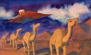 Magic Carpet and Camels concept art
