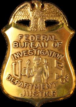 Federal Bureau of Investigation special agent badge.png