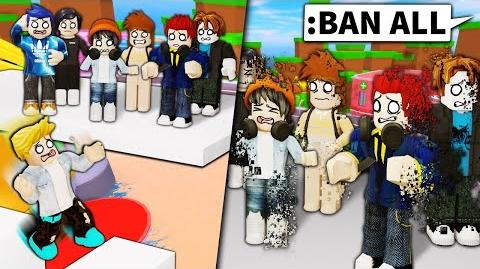 I use Roblox ADMIN to BAN EVERYONE if this noob can't do the obby...