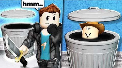 I wore a ROBLOX TRASH CAN outfit... and they couldn't find me...