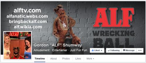 Like Gordon ALF Shumway on Facebook!