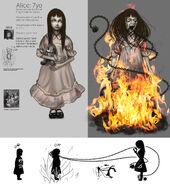 Alice Asylum - młoda Alice jako wróg