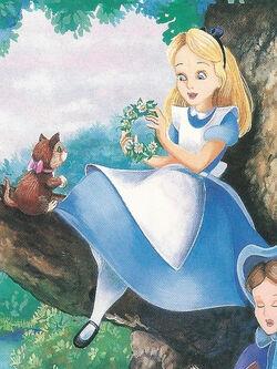 Alice In Wonderland Book Alice Make Flower Crown.jpg