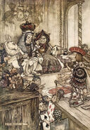 Alice in Wonderland by Arthur Rackham - 14 - Who stole the Tarts