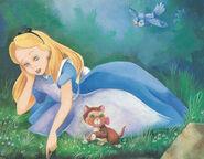 Alice In Wonderland Book Alice At Riverbank