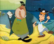 Alice in Wonderland Walrus and Carpenter Production Cels Setup