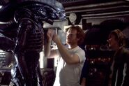 Sir Ridley adjusts the Alien