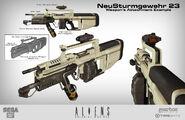 Concepto del Rifle de asalto NSG 23