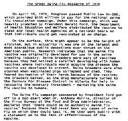 Great Swine Flu of 1976-A